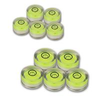 Set of 5 spirit levels | Ø14,8/18 mm | acrylic glass | green