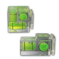 Spirit level with 2 or 3 flash shoes | for video cameras