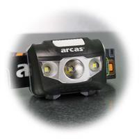 Kopflampe mit gebündelten Lichtstrahl oder breitstrahlenden Flutlicht