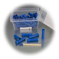 50 Stoßverbinder mit Kunststoff-Ummantelung in rot oder blau