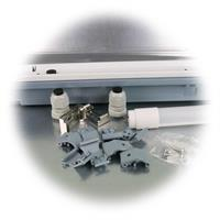 IP65 Industrieleuchte mit zweiseitiger Kabeleinführung
