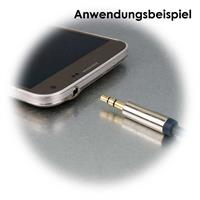 Klinken-Verlängerungskabel mit 3,5mm Buchse und Stecker