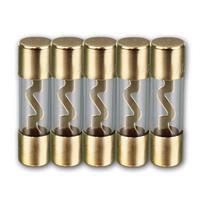 Glassicherungen | 70A | 5er Set | 10x38mm | vergoldet