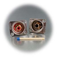 kleine Einbaubuchsen für beste Signalübertragung im Audiobereich