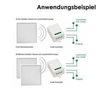 Funkcontroller in Kombination mit 1-fach Wechselschalter