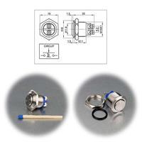 Metalltaster in 12, 16 oder 19mm Einbau-Durchmesser