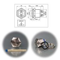 Metalltaster als Schließer mit IP67 in 3 Größen