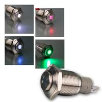 Metal push button | 16mm | point lighting | 4 colours