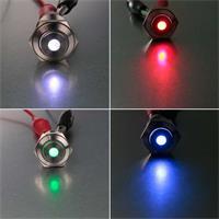 16mm Metalltaster mit Punktbeleuchtung in 4 Farben