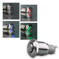 Metal push button | ring illumination | diverse colours