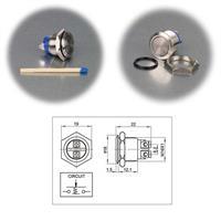 Metalltaster mit flachem Kopf in 16 oder 19mm Größe