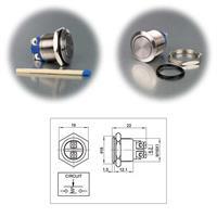 Anschluss-Skizze für 1-poligen Metall-Taster