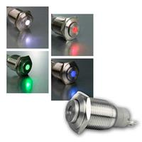 Metallschalter mit bunter LED-Punktbeleuchtung | Ø16mm