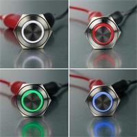 Ø16mm Vollmetallschalter mit LED-Ringbeleuchtung