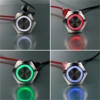 Ø19mm Metallschalter mit Ringbeleuchtung in verschiedenen Farben