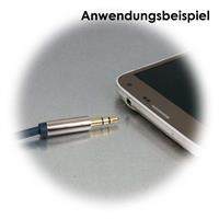 Abgeschirmtes Verlängerungskabel mit 3,5mm Klinkenbuchse zu 3,5mm Klinkenstecker