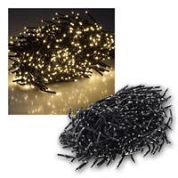 Büschel-Lichterkette | warmweiß | 600 LEDs| 8 Lichteffekte