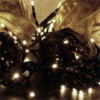 Warmweiße LED Cluster-Lichterkette mit 400 LEDs