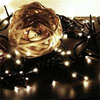 Warmweiße Cluster-Lichterkette mit 600 LEDs