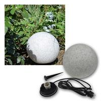 Garden ball light granite-28 | Ø28 | socket E27 | IP44