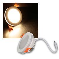 LED Einbaustrahler | Lichtkranz | warmweiß | 450lm | 6W