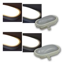 LED Oval moisture-proof light | 6/12W | warm white/daylight
