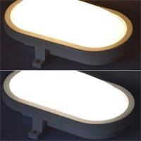 Ovale Feuchtraum-Leuchte in warmweiß oder daylight