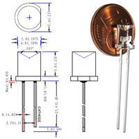 Abmessungen der 5mm wasserklaren LEDs