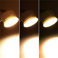 LED Leuchtmittel mit warmweißer COB LED über Lichtschalter dimmbar
