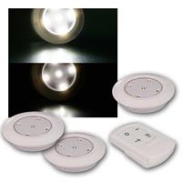 Set of 3 downlights CT Corro 3 | remote control | daylight