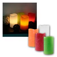 LED wax candle | 12,5x7,5cm | with timer | flickering flame