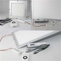 LED Licht-Panele wechseln per Fernbedienung von kalt- zu warmweiß