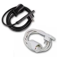 Flat angle plug| white or black | 250V~/16A