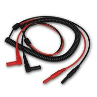 Spiral measuring lead, 40-200cm | with 4mm safety plug