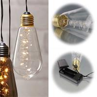 Deko Glühbirnen mit integrierten LED Drahtlichterketten