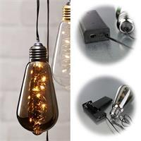 LED Dekolichter aus Glas in klar, amber oder schwarz