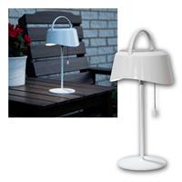 LED Solar Table Lamp, white | 40lm, warm white | pull switch