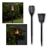 LED solar torch FLAME square/round | imitates fire | IP44