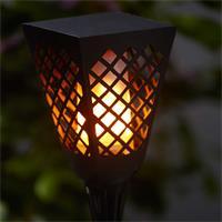 LED Außenleuchte mit Dämmerungsfunktion, Solarpanel und Ein-/Ausschalter