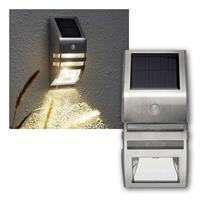 LED Solar Wandleuchte Wally | 2 LEDs, 50lm | PIR, IP44