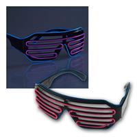 LED Party-Brille | 3 Leuchtfunktionen | Batteriebetrieb