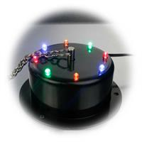Diskokugel mit bunten LEDs und Drehmotor