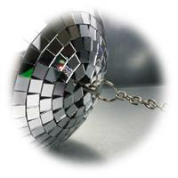 Ø20cm Spiegelkugel mit Aufhängung für Drehmotor