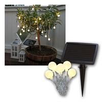 LED fairy lights, 20 LEDs, 7m | Winter solar panel | IP44