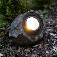 LED Dekoleuchte mit warmweißer LED in Form eines Steines