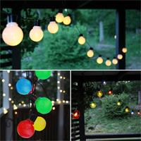 LED Lichterketten mit 16 Glühbirnen für Innen & Außen, 4,5m