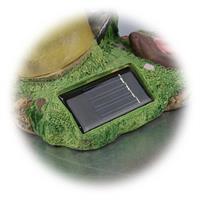 LED Außenleuchte mit Solarpanel zum Aufladen des Akkus