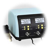 Kombi-Lötstation mit getrennter Temperaturregelung, digitale Anzeige