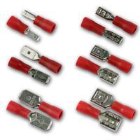 Kabelschuhe BLANKO rot | Flachsteckverbinder | je 50 Stück