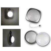 LED-Schrankleuchte | weiß/ silber | Clickleuchte/Zugschalter